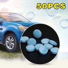 新50ピース/パック多機能発泡スプレークリーナーセットボトルなし車の窓風防ガラスクリーニングドロップシッピング