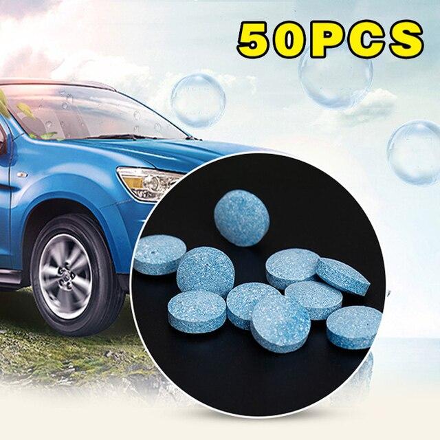 Nowy 50 sztuk/paczka wielofunkcyjny środek czyszczący w aerozolu zestaw bez butelki okno samochodu przednia szyba czyszczenie Dropshipping