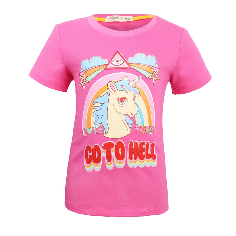 Unicorn Home and Kids Decor All Over Print T-Shirt,95/% Polyester,Childrens Shor