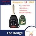 YLKGTTER 433 МГц 3 + 1 кнопка дистанционного ключа для Dodge Dakota Durango зарядное устройство для Jeep Grand Cherokee Chrysler 300 брелок для KOBDT04A