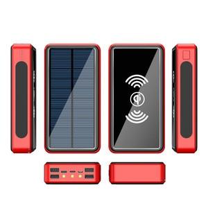 Image 3 - Wireless Power Bank 30000 mAh Powerbank 4 USB แบบพกพา External Charger Pack สำหรับ Xiao Mi Mi 3 iPhone poverBank