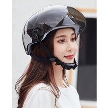 Универсальный мотоциклетный шлем, закрывающий половину лица летний солнцезащитный Электрический автомобильный защитный шлем четыре сезона велосипедный открытый шлем