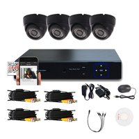 Home Indoor Outdoor 1/3 Recording DVR HD Camera System Wall Mounting Night Vision Surveillance Security Monitoring Kit