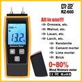 RZ Feuchtigkeit Meter Digital Holz Feuchtigkeit Meter 0 80% Holz Arbeits Tester Mess werkzeug RZ660-in Feuchtemessgeräte aus Werkzeug bei