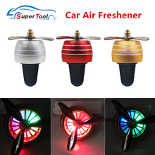 Fan Conditioner Air-Freshener Car-Smell Mini LED Portable