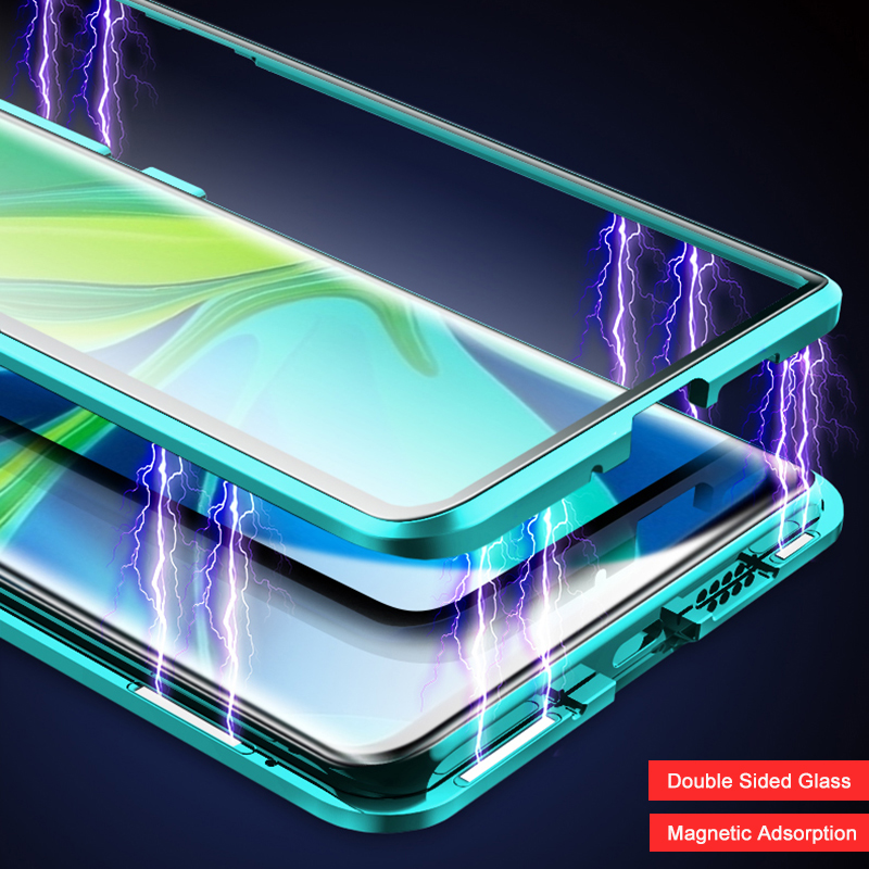 Magnetic Glass Case For Xiaomi Mi 10 5G Redmi Note 9 9S 9PRO Metal Bumper for Redmi K30 K20 Note 8 Pro 8T Xiaomi 9T Phone Case(China)
