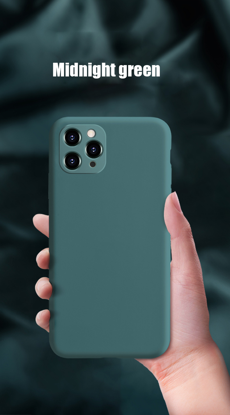 Liquid Silicone Phone Case With Precise Holes And Lens Protection for iPhone 11 Models 16