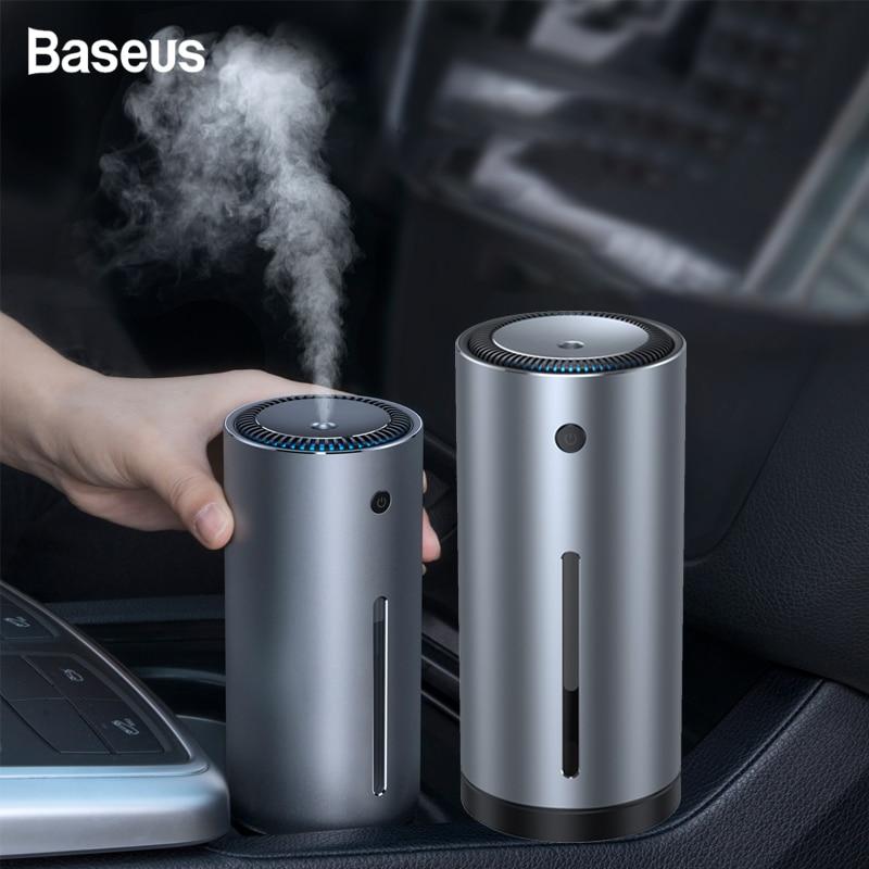 Baseus alta qualidade carro umidificador de ar aroma difusor óleo essencial 300ml aromaterapia difusor usb para casa escritório purificador de ar