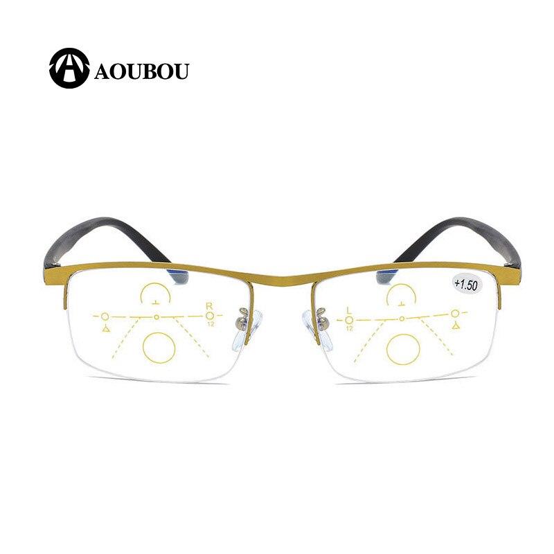 Image 2 - Progressive Multifocal Reading glasses Anti blue light Look far Look in the middle Look near Multifunction eyebrow Retro  RetroWomens Blue Light Blocking Glasses   -