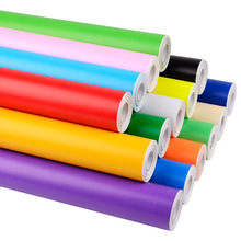 45cm*10m Large roll of instant stickers, color  timely manual materials advertising paste kindergarten wall sticker