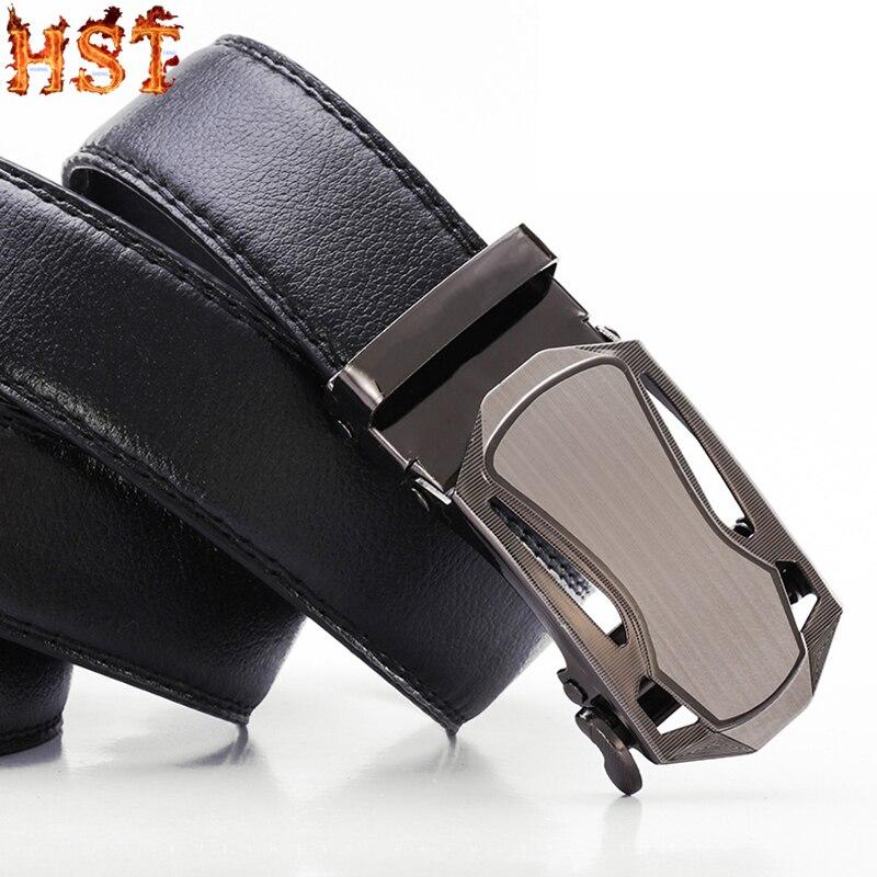 Men's Litchi Pattern Non-dermal Genuine Belt Men's Belt Men's Automatic Buckle Belt Business Casual Fashionable Wild Men's Belt