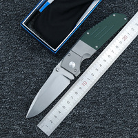 LEMIFSHE 7505 knife Titanium G10 handle M390 Blade folding Pocket Survival EDC Tool hunting Utility outdoor camping knife