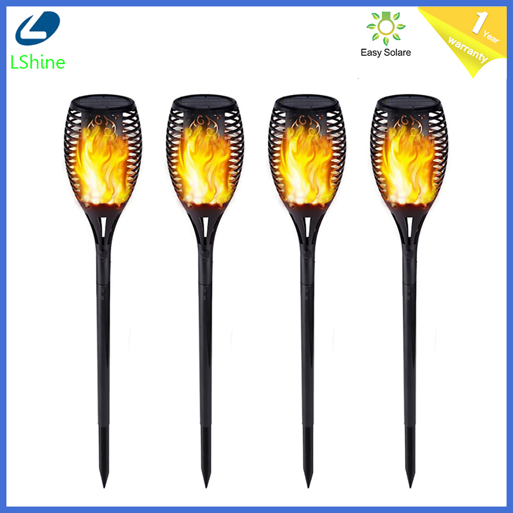 12/33/51/72/96Leds Solar Light Control Solar Flame Light Dance Flame Outdoor IP65 Garden Torch Lamp For Courtyard Garden Balcony