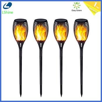 12/33/51/72/96Leds Solar Light Control Solar Flame Light Dance Flame Outdoor IP65 Garden Torch Lamp For Courtyard Garden Balcony