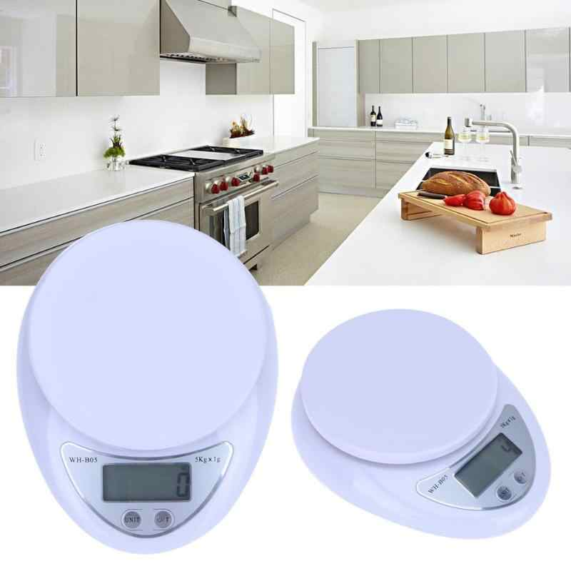 5kg x 1g High Precision Digital Jewelry Scale Mini Pocket Kitchen Electronic Scales Weigh Balance with LCD Display Libra