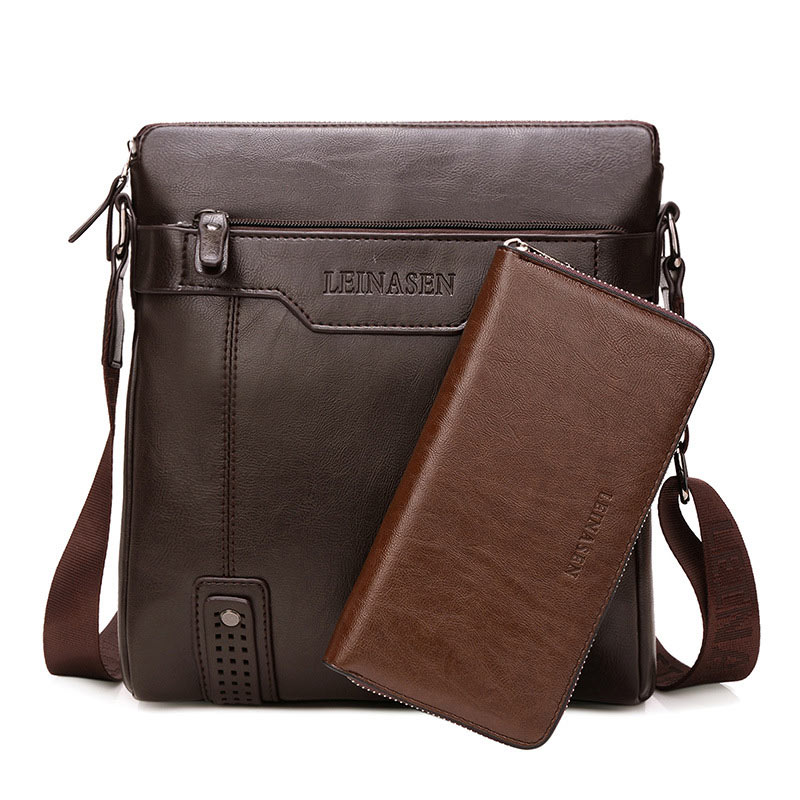 Shoulder bags for men 2021 new fashion simple zipper leather crossbody bag male vertical shoulder solid color messenger bag men