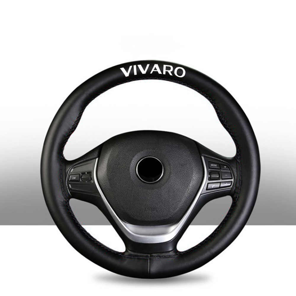 15 Inch Top Genuine Leather Steering Wheel Cover untuk Opel Vivaro Aksesoris Interior Mobil