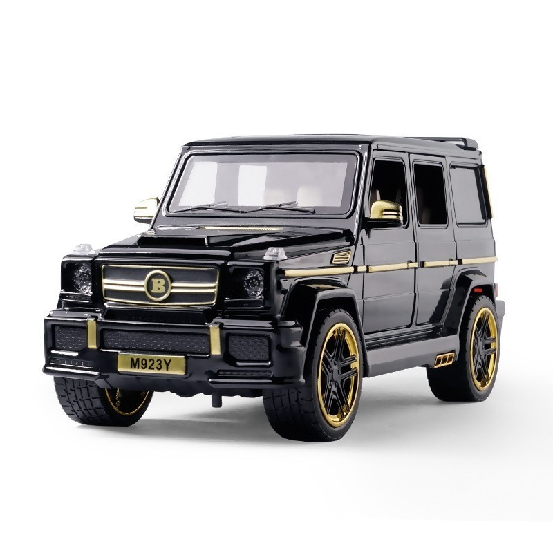 1/24 G65 G Class Alloy Car Model Simulation Black-golden Suv Toy Modified Car Suv Sound & Light 6 Door Opened Off-road Vehicle
