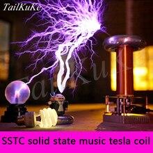 Tesla катушка искусственная молния производитель музыка Tesla катушка SSTC Tesla Lightning Storm