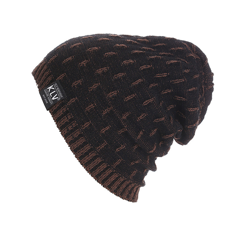 Women's Men's Warm Loose Woven Crochet Winter Wool Knit Ski Bean Bean Skull Hat Men And Women Solid Knit Autumn/Winter Cap