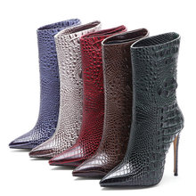 2020 New Brand Women Boots Fashion Super High Heels Ankle