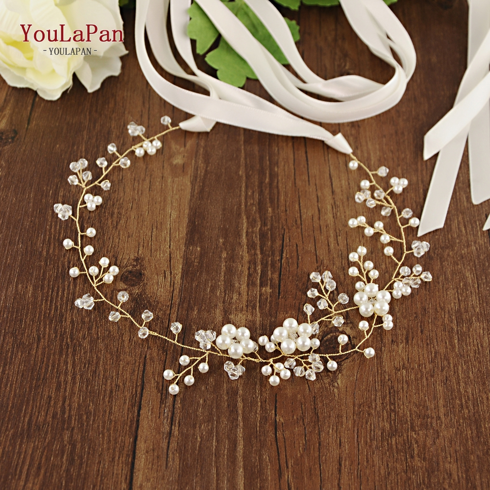YouLaPan SH126 2019 The New Wedding Bridal Belt Pearl Bridal Belts And Sashes Thin Bridal Belt  Western Bridal Belts