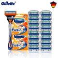 Оригинал Fusion 5 Gillette бритвенные лезвия для мужчин бритва для лица бритва со сменными лезвиями для мужчин бритвенные кассеты новая горячая ра...