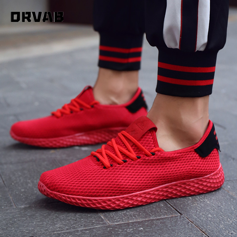 Men Shoes Fashion Designer Sneakers Black White Red Breathable Casual Shoes Men High Quality Lightweight Soft Non-slip Man Shoes
