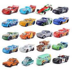 Disney Pixar 2 Die-Casting Metal Cars Lightning McQueen Mater Jackson Storm Ramirez Mc Queen Pixar Car Toys for Children