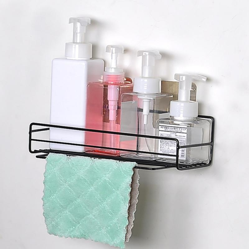 Wrought Iron Storage Rack Bathroom Punch Free Corner Shelf Shower Finishing Storage Rack Kitchen Seasoning Storage Rack