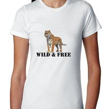 Amur Tiger - Endangered - Wild Free Women's T-Shirt(China)