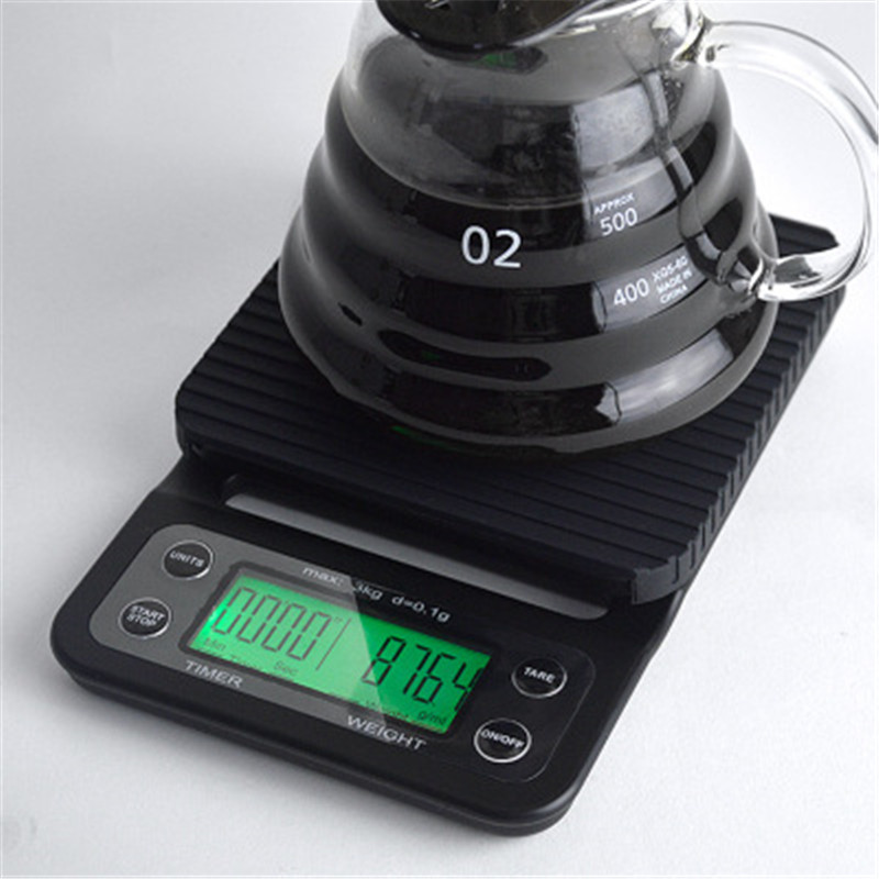 Drip Coffee Scale With Timer 3kg/0.1g 5kg/0.1g Portable Electronic Digital Kitchen Scale High Precision LCD Electronic Scales
