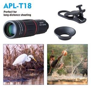 Image 2 - Apexel 18x telescópio zoom lente do telefone móvel para iphone samsung smartphones universal clipe monocular câmera lente