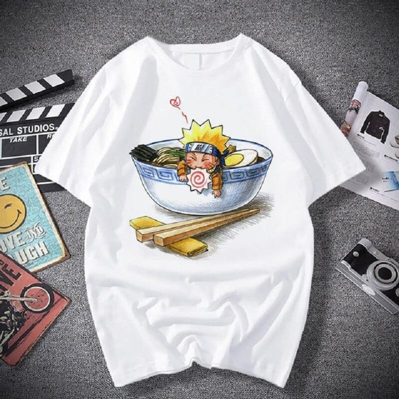Kakashi Fashion Japanese Anime T Shirt Men Sasuke Funny Cartoon Tshirt Casual Cool Streetwear Tshirt Couple Hip Hop Top Tee Male