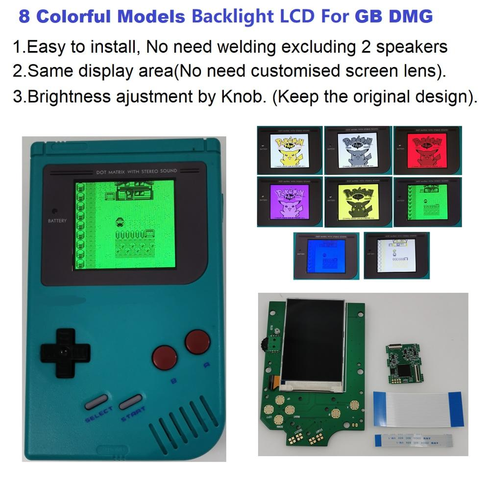 Console Lcd-Screen Backlight-Kit DMG Classic Handheld 1989 Gameboy Original 4-Pixels title=