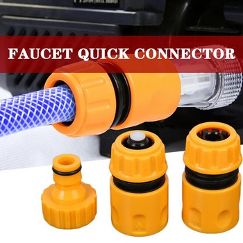 3Pcs/set Coupling Adapter Drip Tape Watering Irrigation Faucet Hose Connecter With 1/2'' 3/4'' Male Garden Water Connector