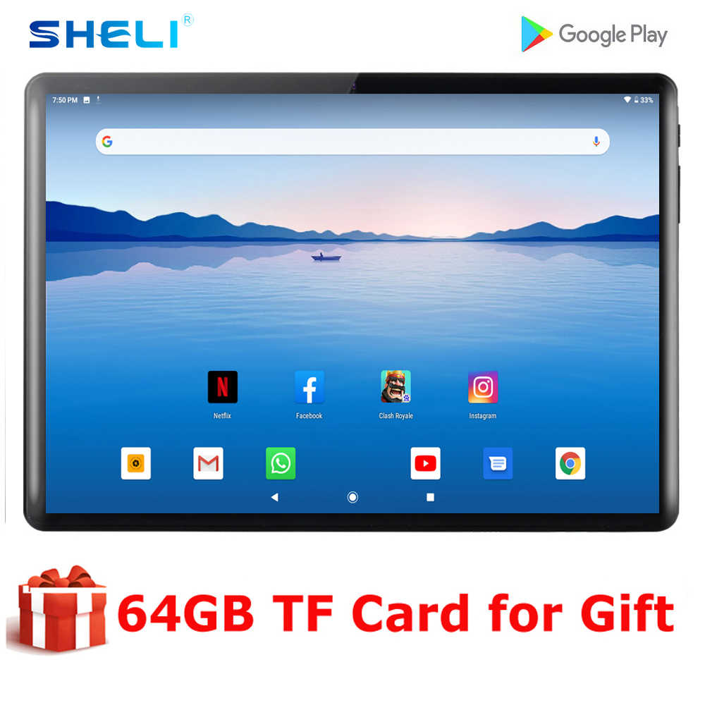 2020 neue 10 Zoll Android 9,0 Tablet Quad Core 2G RAM 32G ROM Tabletten 1280*800 IPS LCD Dual SIM Karte 3G Tablet Pc Mit Freies Geschenke