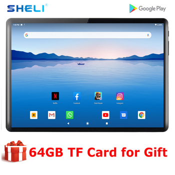 2020 New 10 Inch Android 9.0 Tablet Octa Core 4G RAM 64G ROM Tablets 1280*800 IPS LCD Dual SIM Card 4G Tablet Pc With Free Gifts