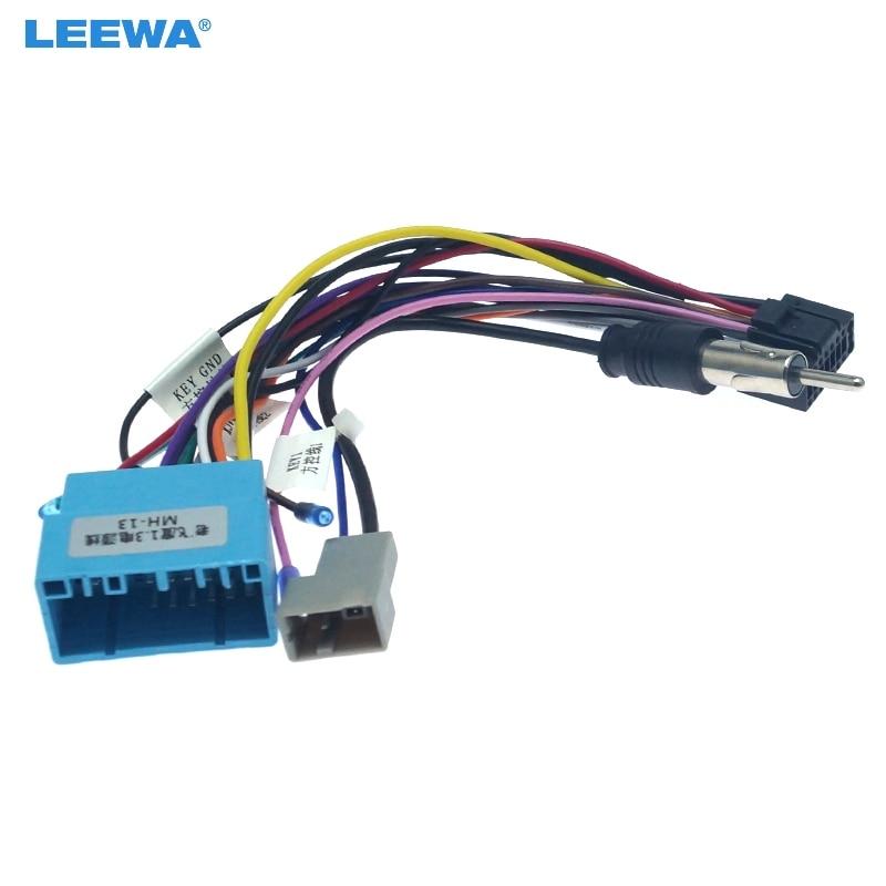 LEEWA 16-pin Car Android Aftermarket Stereo Wiring Harness Adapter For Honda/Acura/Mazda/Suzuki Original Stereo Wiring Harness