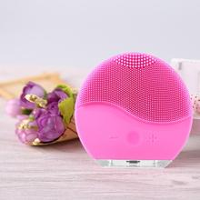 Ultrasonic Vibration Beauty Instrument Electric Face Washing Brush Skin Blackhead Remover Pore Cleaner Massager USB Rechargeable