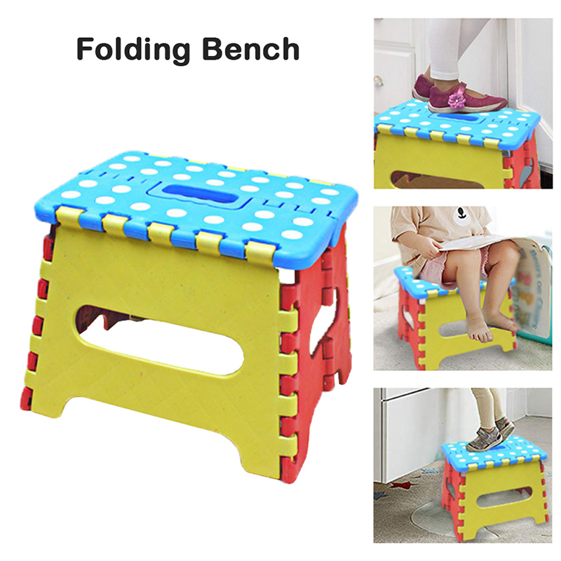 Minimalist Modern Outdoor Activity Home Bathroom Necessity Portable Thick Soft High Quality Plastic Kids Antiskid Folding Stool