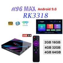 TV boxing Netherlands H96 MAX Rockchip RK3318 Smart Android 9.0 Set Top Box Bluetooth4.0 USB 3.0 max Support iptv france