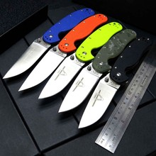 NEW Model RAT 1 AUS-8 Blade G10 Handle Folding knife Tactical Survival outdoor knives Camping Hunting Rescue EDC Portable Tools kizer knife hunting domin v4516a2 2018 new arrival knives folding blade mini rescue professional edc tools