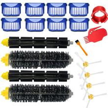 Replacement Part Kit For iRobot Roomba 600 Series 610 620 625 630 650 660 Vacuum Beater Bristle Brush+Aero Vac Filter+side Brush cheap Filters