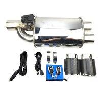 car Accessories Exhaust pipe muffler electric valve muffler tail pipe for BMW E46 E60 E90