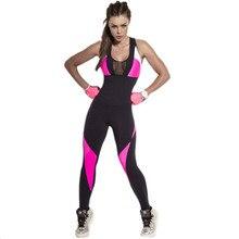 Women Yoga Tights Jumpsuits Sexy Mesh Patchwork One-piece Backless Workout Fitness Gym Bodysuit Quick-dry Sports Wear Female цена в Москве и Питере
