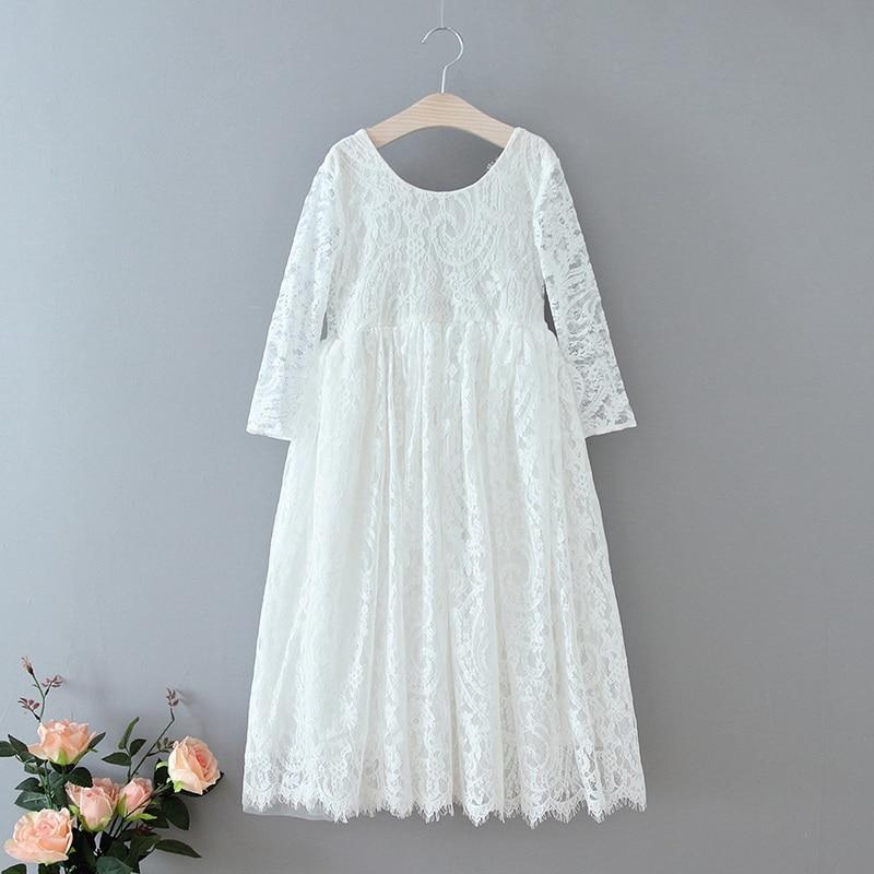 70-1-E17125-White Lace Girls Dress