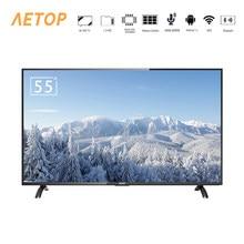 Frete grátis-tv 4k 55 polegada led tela plana televisor android controle smart tv lcd com DVB-T2/s2