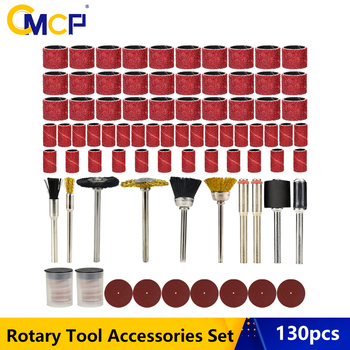 CMCP 130pcs Rotary Tool Accessories Set For Dremel Rotary Tool Abrasive Tools Kit For Grinding Sanding Polishing Cutting Tool rijilei 136pcs dremel rotary tool accessory attachment set kits grinding sanding polishing sander abrasive for grinder
