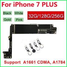 Dla iphone 7 Plus płyta główna Fingerprint Touch Id,100% oryginalne odblokowane płyty logiczne 32GB 128GB 256GB